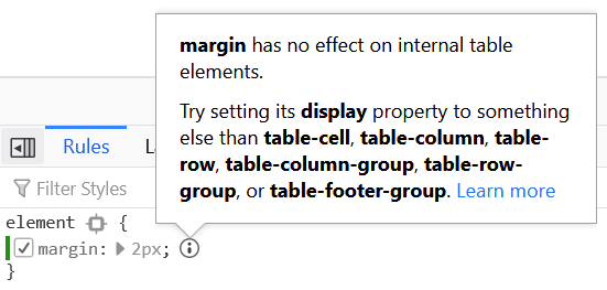Inactive CSS screenshot