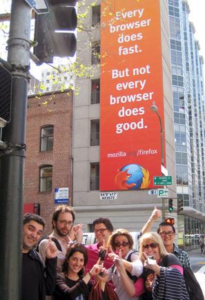 サンフランシスコ市内に掲出した Firefox の屋外広告