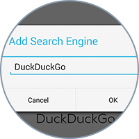 Search for Web content through any provider you want, like DuckDuckGo, for example.