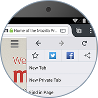 Share anything from the Web, using your favorite social sharing apps, directly from within Firefox for Android.